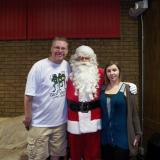 Scott & Cindy Cole w/Santa