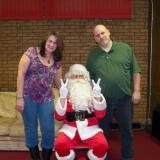 Donna & Jerry Jutras w/Santa