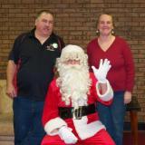 Ed & Lisa Kelley w/Santa