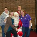Nikki, Cindy, Lisa & Michelle w/Santa