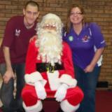 Chris Kelley and Michelle Tompkins w/Santa