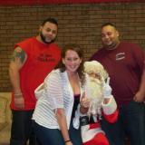 """Izzy """"Does it"""", Kim Balcom, JJ Santana w/Santa"""