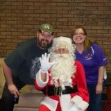Jim & Michelle Tompkins & Santa