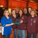 Mammoth Road Mofos D division champs-Brittany, Matt, Sheryl, Russ, Donna, Terry, w/Michelle- board member