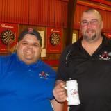 MVP Tounament winner A division - Jimbo McAlister with Carlos Mendonca-board member